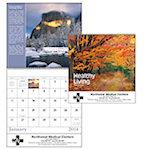 Healthy Living Spiral Wall Calendars